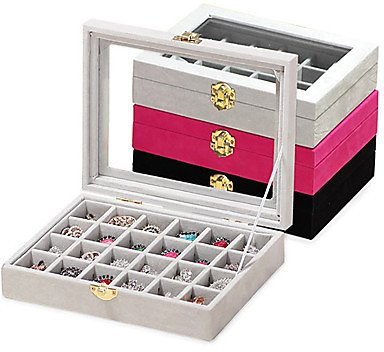 24 Piece Wood Women's Large Storage Jewelry Box