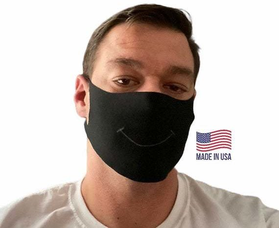 Reusable Face Mask/ Same Day Shipping / Washable Mask / Face Mask / Cloth Mask/ Reuseable Mask / Made in USA /Black / Green / Blue