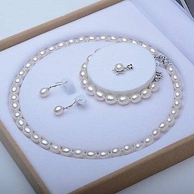 Women's Freshwater Pearl Bridal Jewelry Set