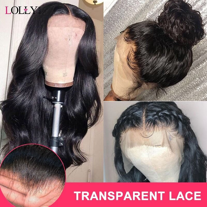 Body Wave Wig 13x4 HD Transparent Lace Front Human Hair Wigs Pre Plucked Remy Human Hair Wigs