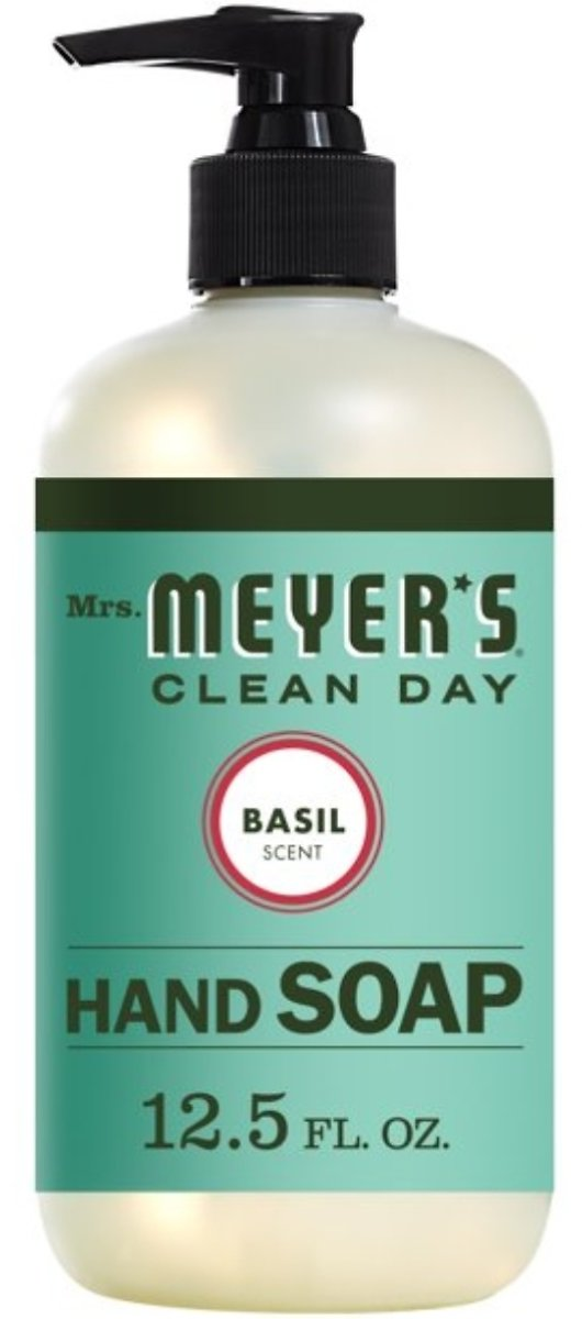Mrs. Meyer's Clean Day Liquid Hand Soap, Basil Scent, 12.5 Oz.