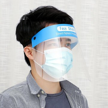 1PC Clear Safety Protective Face Shield Anti Spitting Facial Protection Cover Face Mask Visor Unisex Health Care from Health & Beauty on Banggood.com