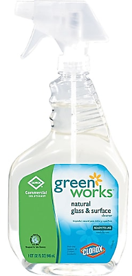 Clorox Green Works Glass/Surface Cleaner, Unscented, 32 Oz. Trigger Bottle