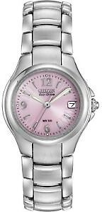 Citizen Eco-Drive Women's Silhouette Pink Floral Dial 25mm Watch