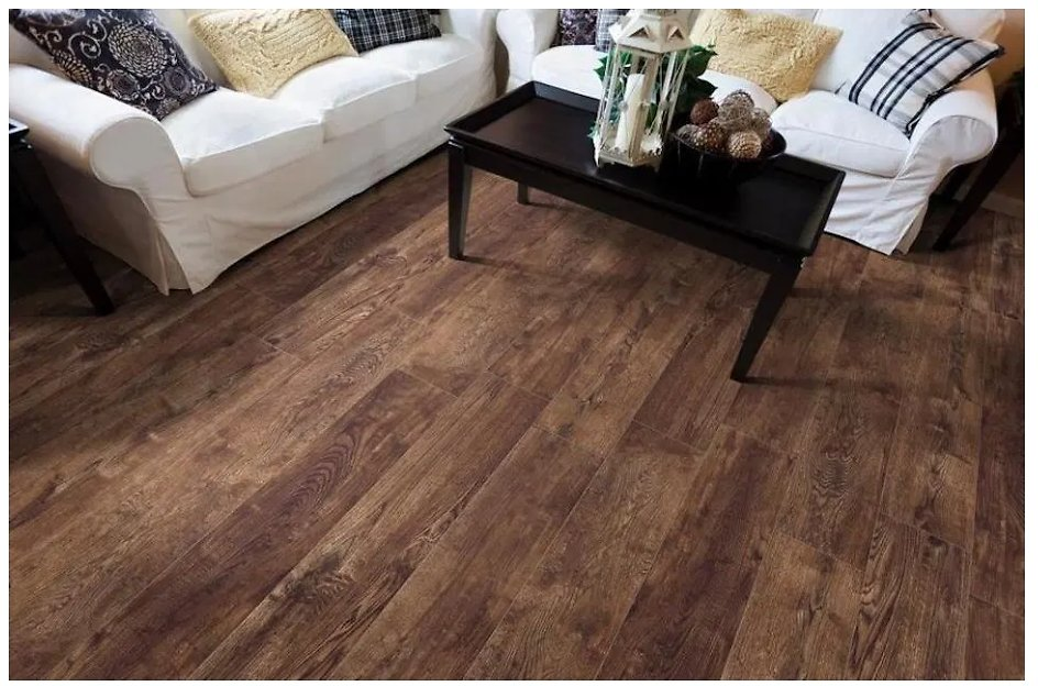 Style Selections Natural Timber Chestnut 8-in X 48-in Glazed Porcelain Wood Look Tile At Lowes.com