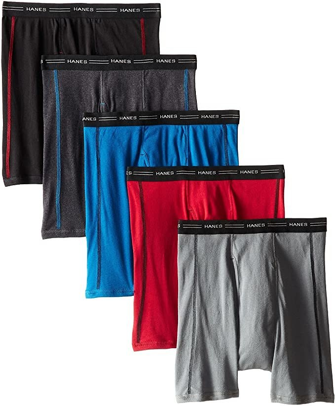 Save 27% | Pack of 5 - Hanes Men's Sports-Inspired Cool Dri Boxer Brief