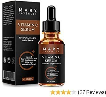 MaryLavender Vitamin C Serum for Face and Eyes with Hyaluronic Acid, Vitamin E, MSM & Aloe, True Serum for Skin, Anti Aging, Anti Wrinkle,Fades Dark Spot,Acne Scars,Sun Damage,Boost Collagen,1 Fl Oz
