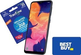 Free $30 Best Buy E-Gift Card with Tracfone Phone and Plan.