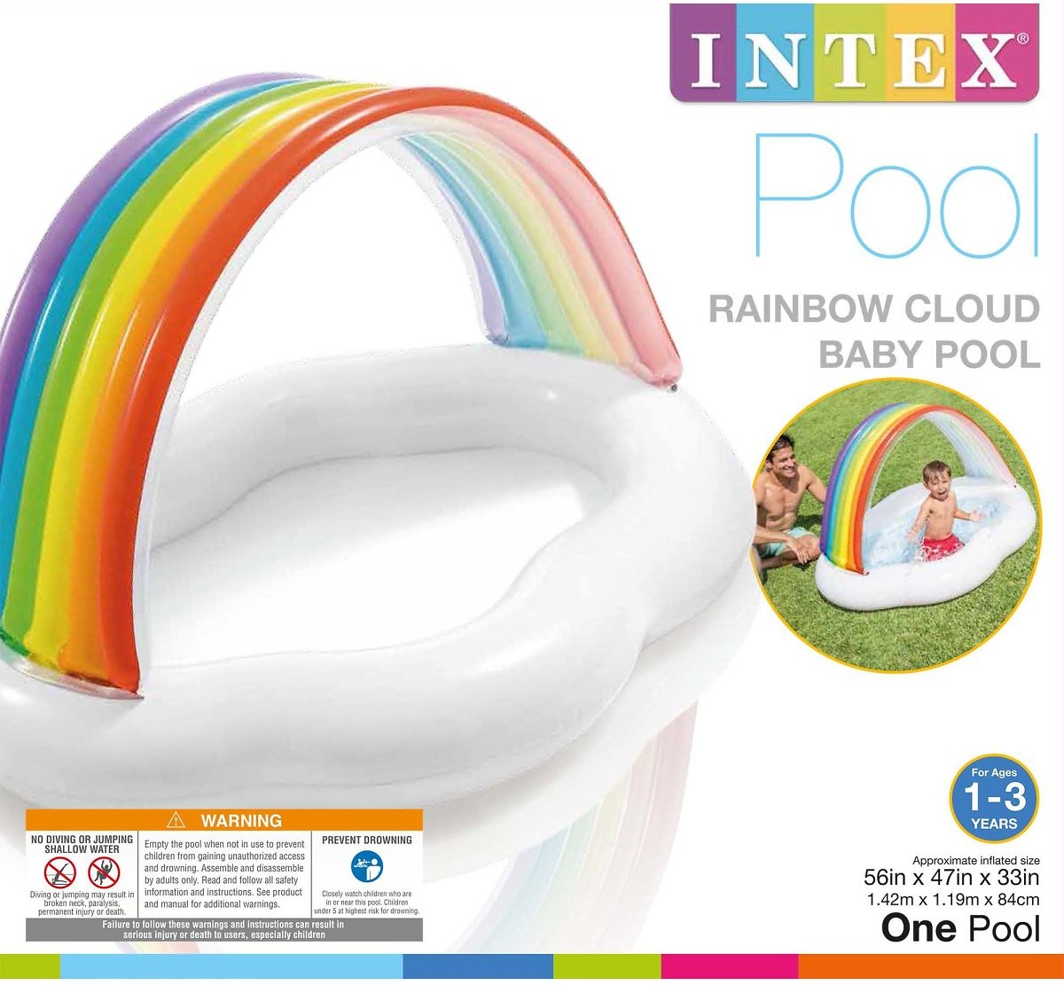 Inflatable-Rainbow-Cloud-Outdoor-Baby-Pool-for-Ages-1-3-Years-Old