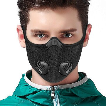 Breathable PM2.5 Dustproof Face Mask With Valves Anit-fog Bicycle Respirator Outdoor Sports 5 Layer Protective MaskWomen's AccessoriesfromClothing and Apparelon Banggood.com