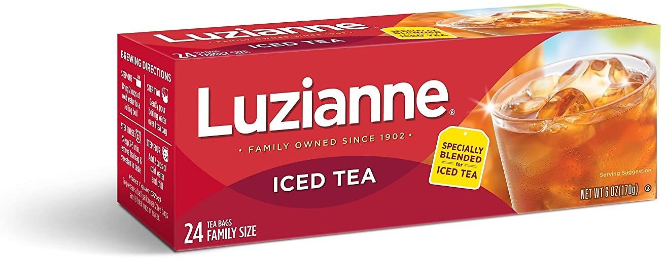 Luzianne Family Size Iced Tea Bags 24 Ct. Box (Pack of 6)