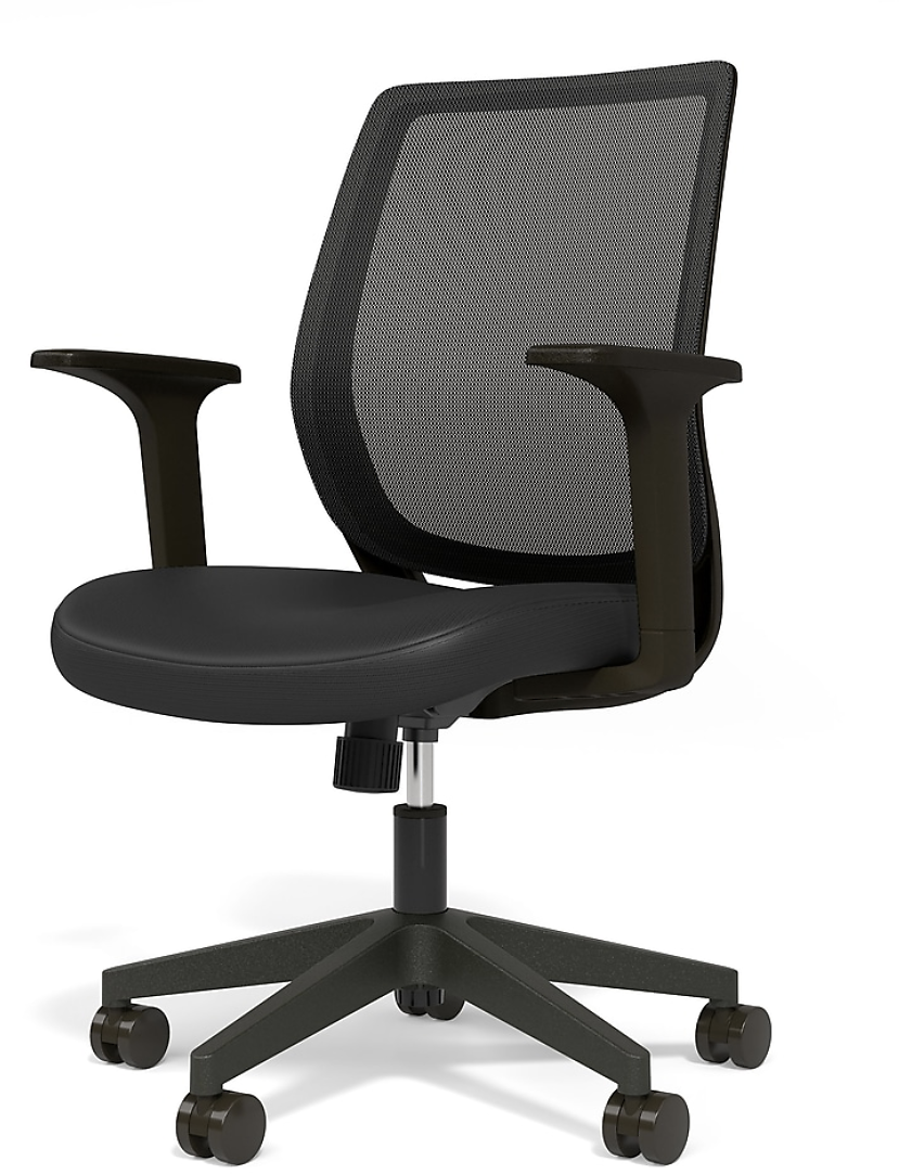 Essentials Mesh Back Fabric Task Chair (Ships Free)