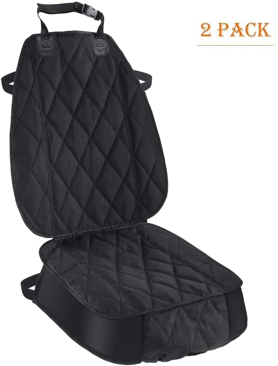 Pet Deluxe Thick Front Car Seat Cover for Car and SUV Waterproof Nonslip Seat Covers for Pet Dogs and Cats Black