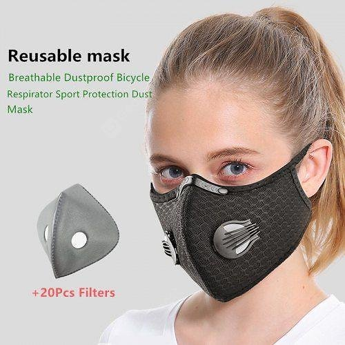 Cycling Face Mask Filter Anti Fog Breathable Dustproof Respirator Non-medical Protection Mask
