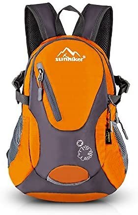 Sunhiker Small Cycling Hiking Backpack Water Resistant Travel Backpack Lightweight Daypack, G-orange