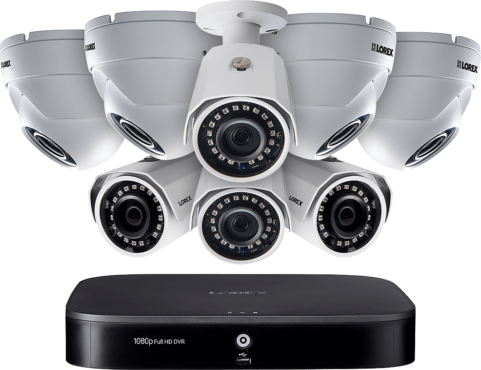 DEAL OF THE DAY! 1080p HD 8-Channel Security System with Eight 1080p HD Outdoor Cameras, Advanced Motion Detection and Smart Home Voice Control