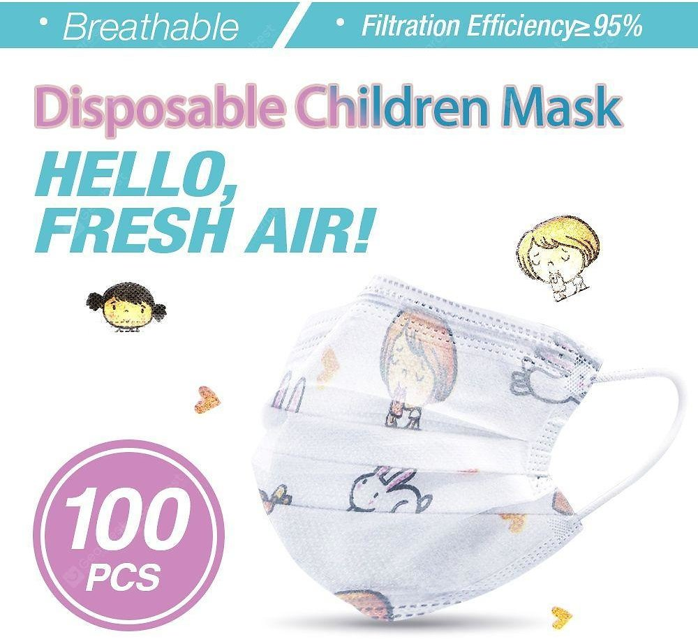 Disposable Children Mask Virus Protection Elastic Earloop Dustproof Anti Flu for Children Sale, Price & Reviews | Gearbest