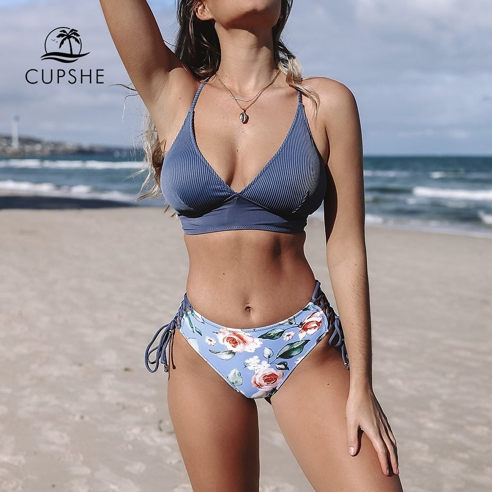 US $31.99 |CUPSHE Sexy Blue - AliExpress