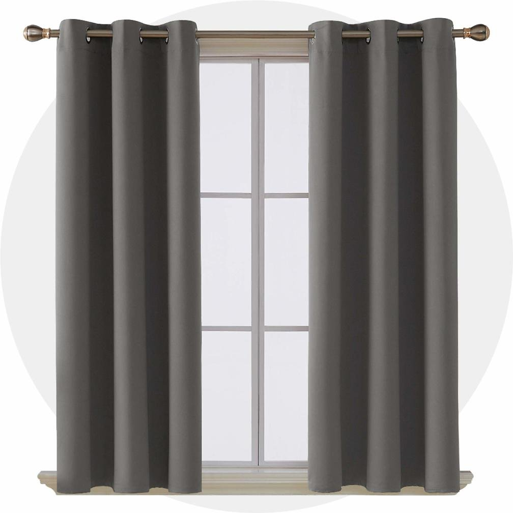 50% OFF Room Darkening Thermal Insulated Blackout Grommet Window Curtain Panel for Living Room Light Grey 42x63 Inch 4 Panels