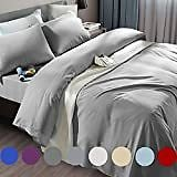 46% OFF Bed Sheet Set Soft Microfiber 4-Piece with 16-Inch Deep Pocket Fitted Sheets