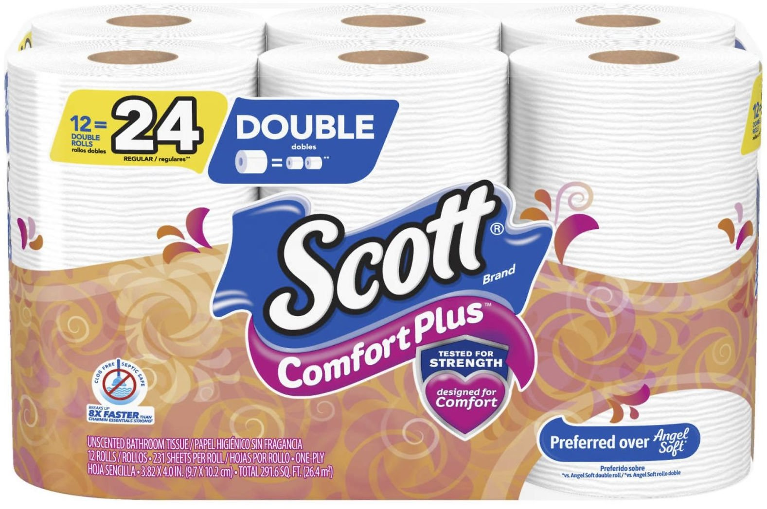 Scott Comfort Plus 12 Double Rolls - Big Lots