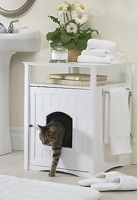 Merry Products Washroom Night Stand Multifunctional Litter Pan Cover