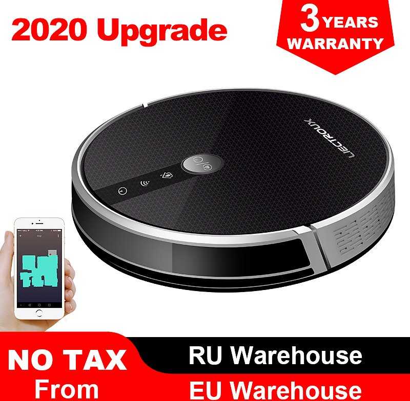 Robot Vacuum Cleaner,Map Navigation,3000Pa Suction, ,Smart Memory, Map Display On Wifi APP, Electric Water Tank