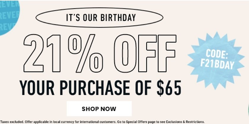 Up to 60% Off Birthday Flash Sale + extra 21% Off $65+