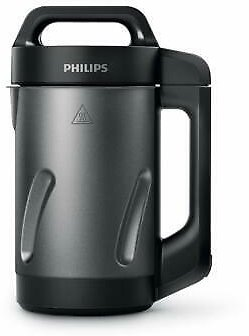 Philips Viva Collection 1000W Soup Maker - Black & Stainless Steel HR2204/70 75020075109