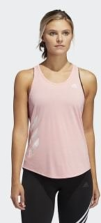 Adidas Own The Run 3-Stripes PB Tank Top - Pink | Adidas US