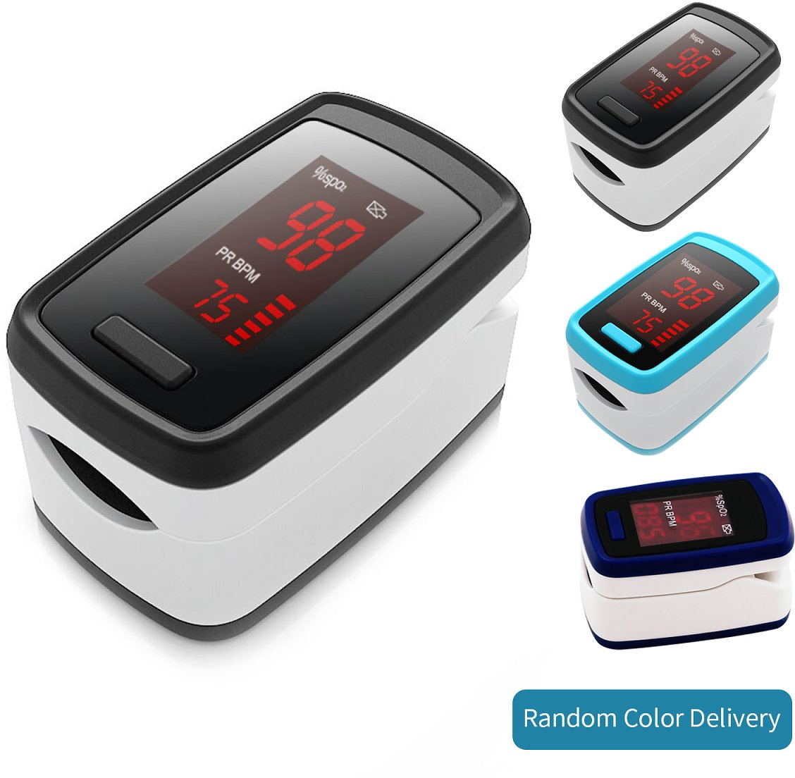 Portable Fingertip B-lood Oxygen Pulse Rate Monitor