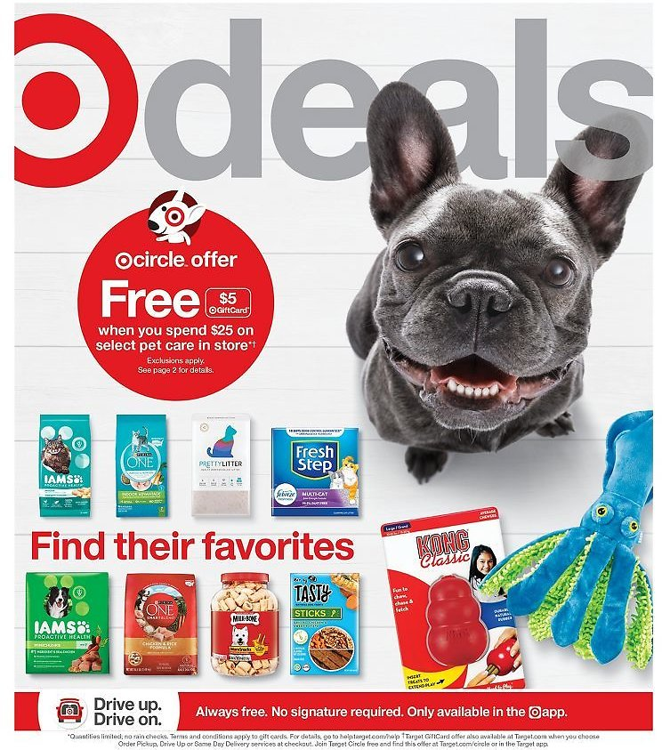 $5 Off Gift Card $25+ Pet Care Products (In-Store)