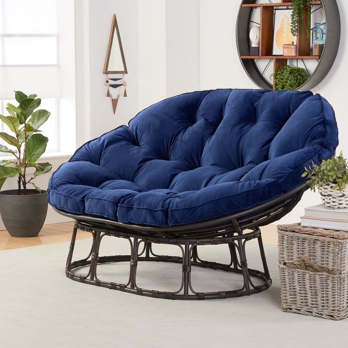 Better Homes & Gardens Papasan Bench w/ Cushion