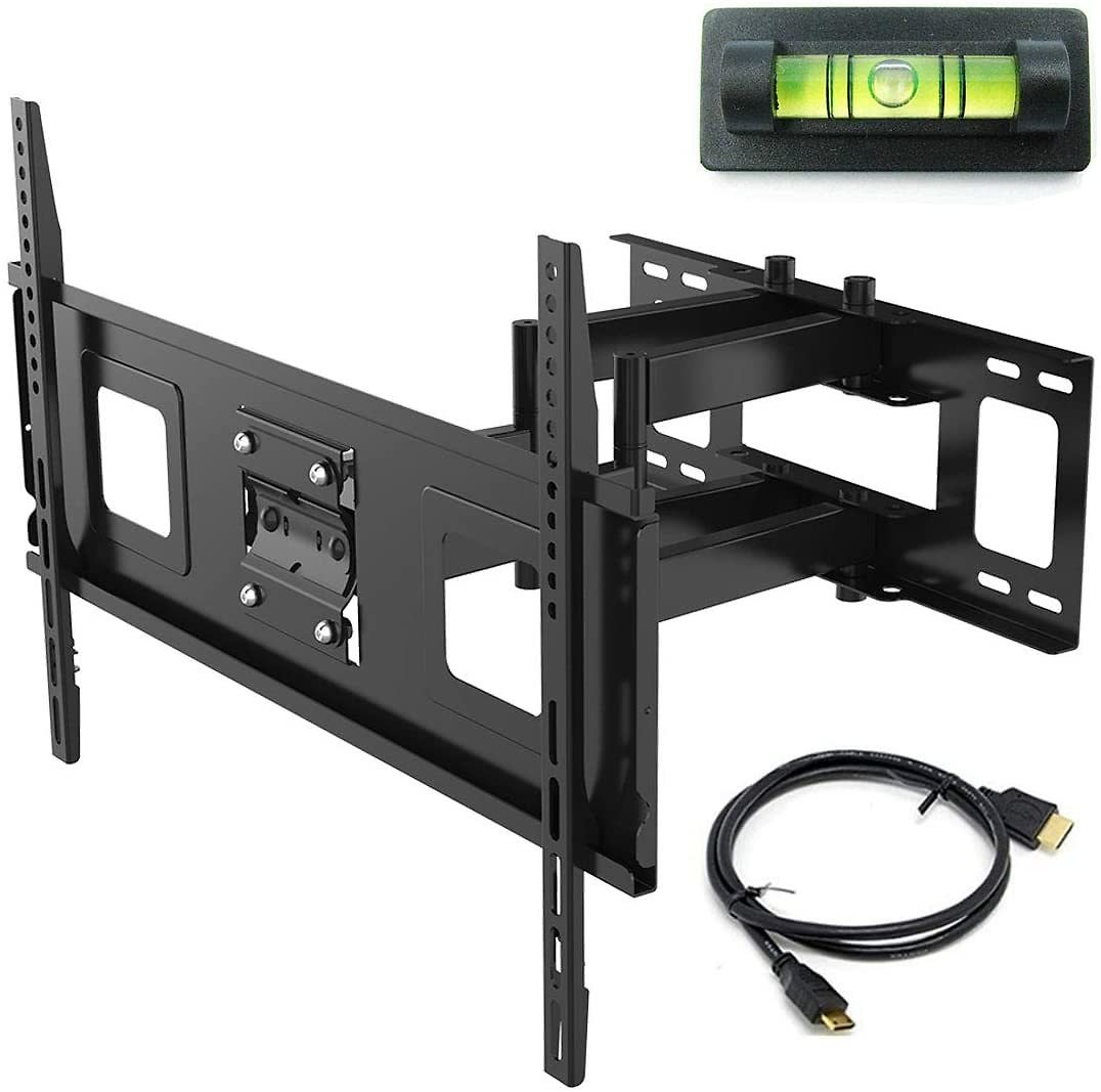 Fleximounts 32-70 Inch Articulating Full Motion Swivel Tilt TV Wall Mount Bracket 18 Inches Arm Max VESA 600x400mm 132 Lbs with