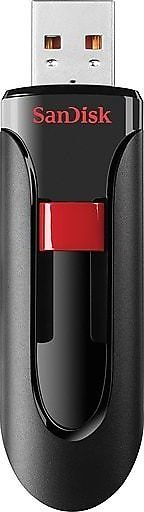 Shop Staples for SanDisk Cruzer Glide 128GB USB 2.0 Flash Drive, Black/Red (SDCZ60-128G-A46)