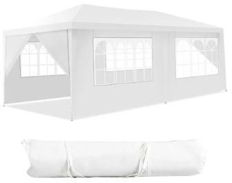 50% OFF | White 10ft X 20ft Garden Canopy Gazebo (No Walls, 4 Walls or 6 Walls)