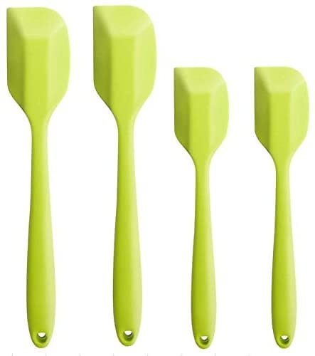 (UPGRADED) HauBee 4 Pack Silicone Spatula Kitchen Turner Set 600°F Heat Resistant Seamless Non-Stick Cooking Baking Mixing Tools Stainless Steel Core Utensils: Kitchen & Dining