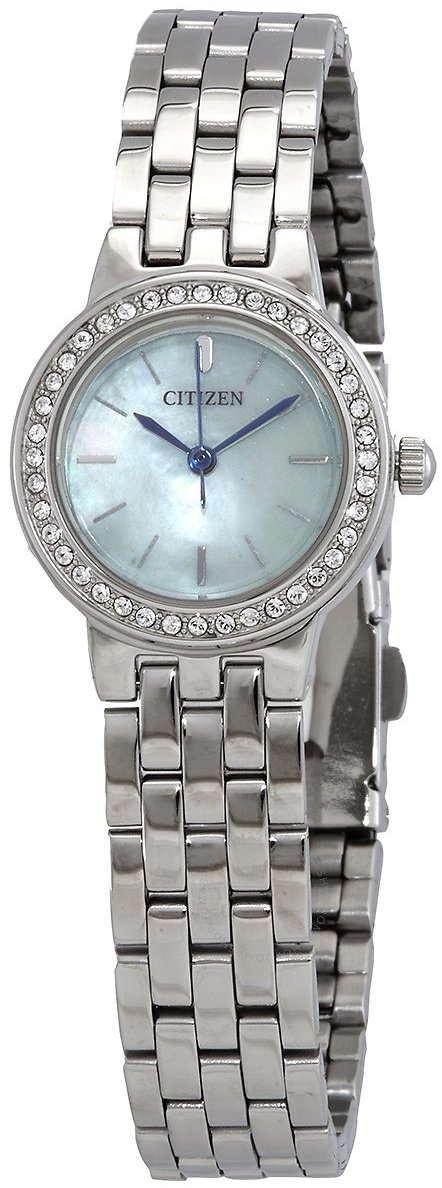 Citizen Mother of Pearl Dial Stainless Steel Ladies Watch EJ6100-51N