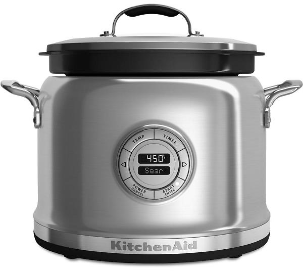 4 Qt. Stainless Steel Electric Multi-Cooker with Programmable Settings