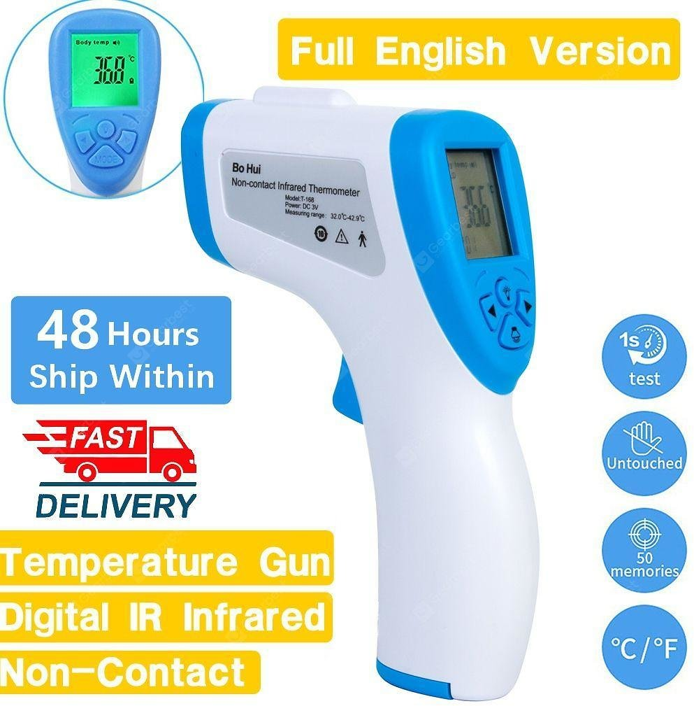 Forehead Non Contact Infrared Thermometer LCD Body Temperature Fever Digital IR Measurement Gun FAST Sale, Price & Reviews | Gearbest