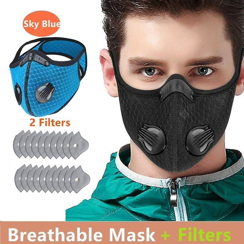 Cycling Face Mask Activated Carbon Windproof DustProof Lightweight Breathable Sportswear Mask Sale, Price & Reviews | Gearbest