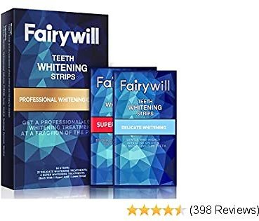 Fairywill Ace Teeth Whitening Strips(50 Pcs), Dental Safe Formula White Strips for Sensitive Teeth, Non-Slip 3D Whitestrips Remove All Manner of Tough Stains in 30 Mins and Whiten Teeth