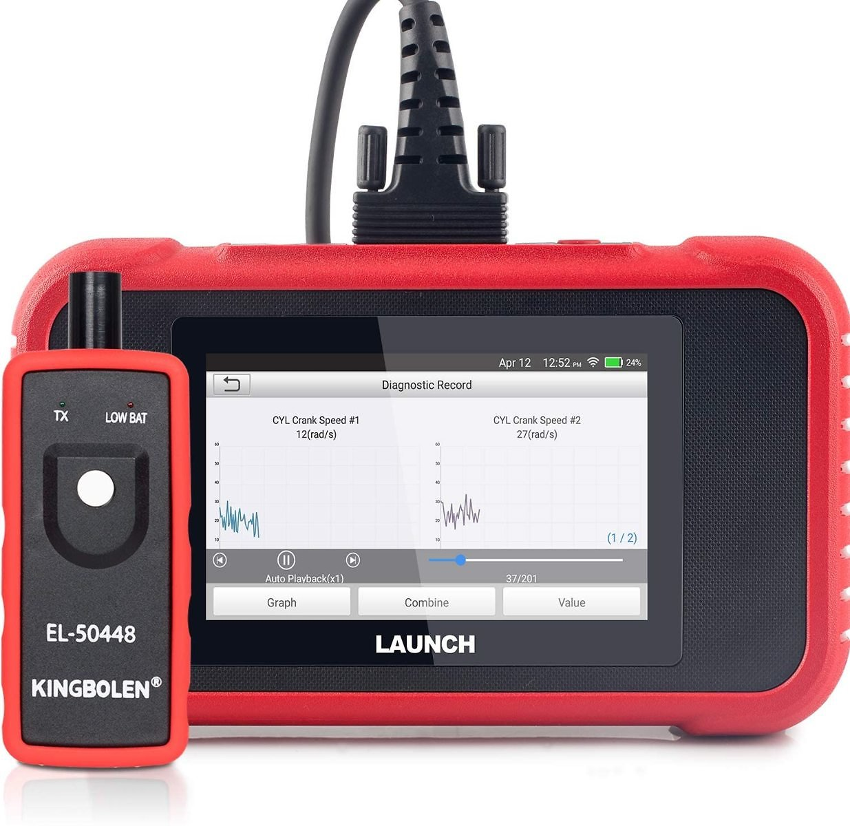 LAUNCH OBD2 Scanner - CRP129E Scan Tool for Engine ABS SRS Transmission Code Reader with Oil/EPB/TPMS/SAS/Throttle Body Reset Ca