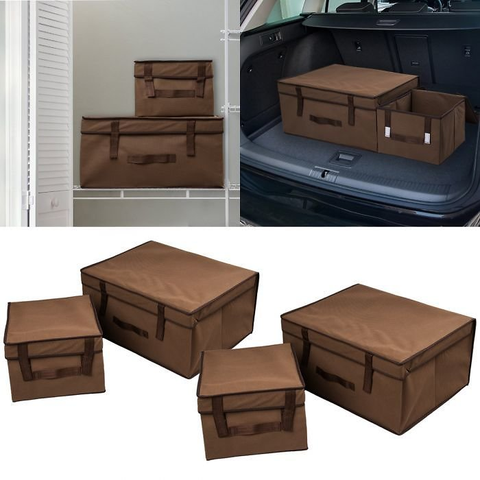 Jumbo 4pc Collapsible Organizer Trunk Set - For Home Or Car
