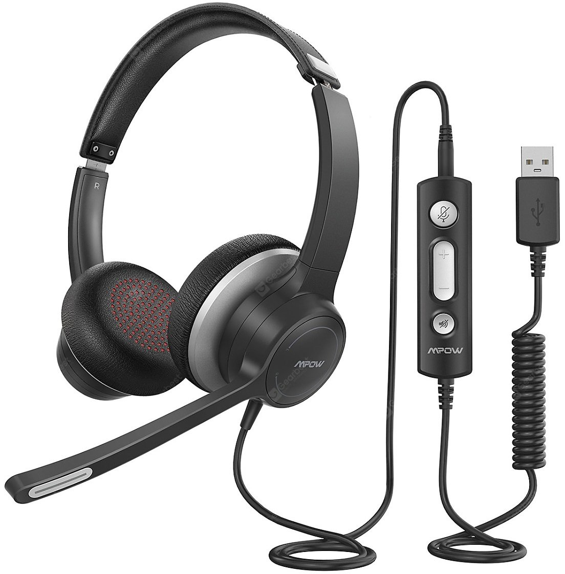 Mpow 328 Wired USB Headphone 3.5mm Computer Headset With Microphone Business Headset For Skype PC Sale, Price & Reviews | Gearbest