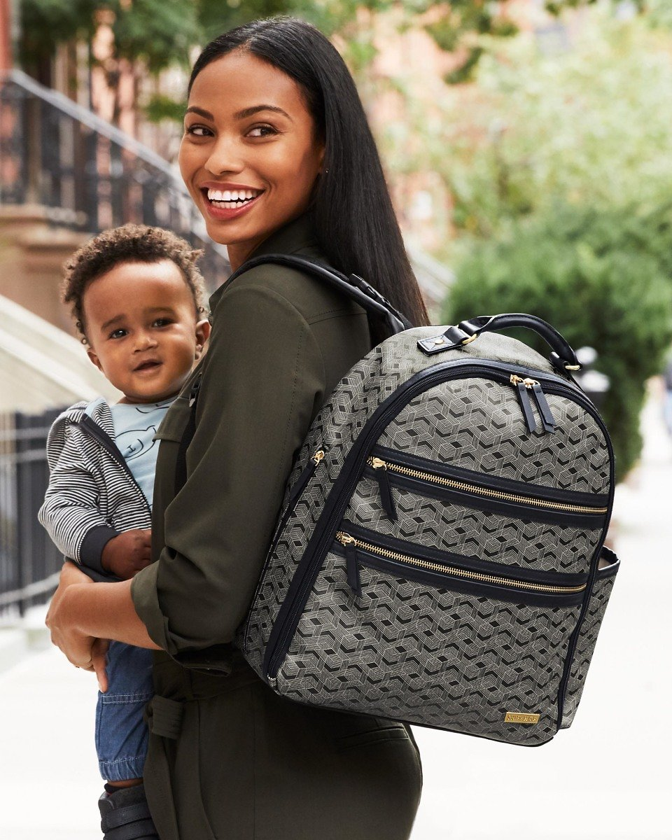 DECO Saffiano Diaper Backpack