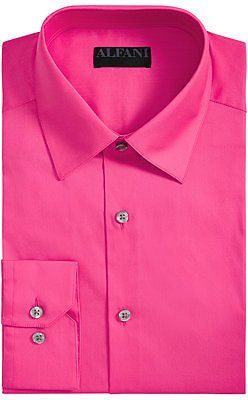 Alfani Men's Slim-Fit Performance Stretch Easy-Care Solid Dress Shirt, Created for Macy's & Reviews - Dress Shirts - Men