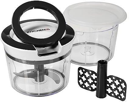 Kitchen HQ Mighty Prep Chopper and Whipper with Extra Bowl and Lid - 9130119 | HSN