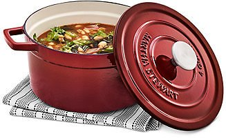 Martha Stewart Collection 4-Qt. Enameled Cast Iron Round Dutch Oven, Created for Macy's & Reviews - Cookware - Kitchen