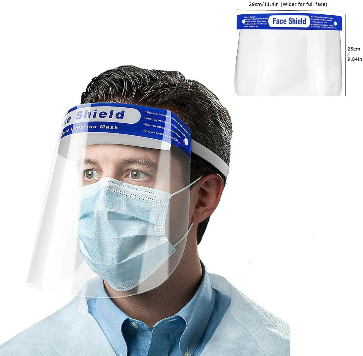 [US$5.29 52% OFF] Anti-fog Transparent Plastic Full Face Shield Protective Face Mask Anti-Spitting Splash Facial Cover With Forehead Cushion Fishing & Hunting from Sports & Outdoor On Banggood.com